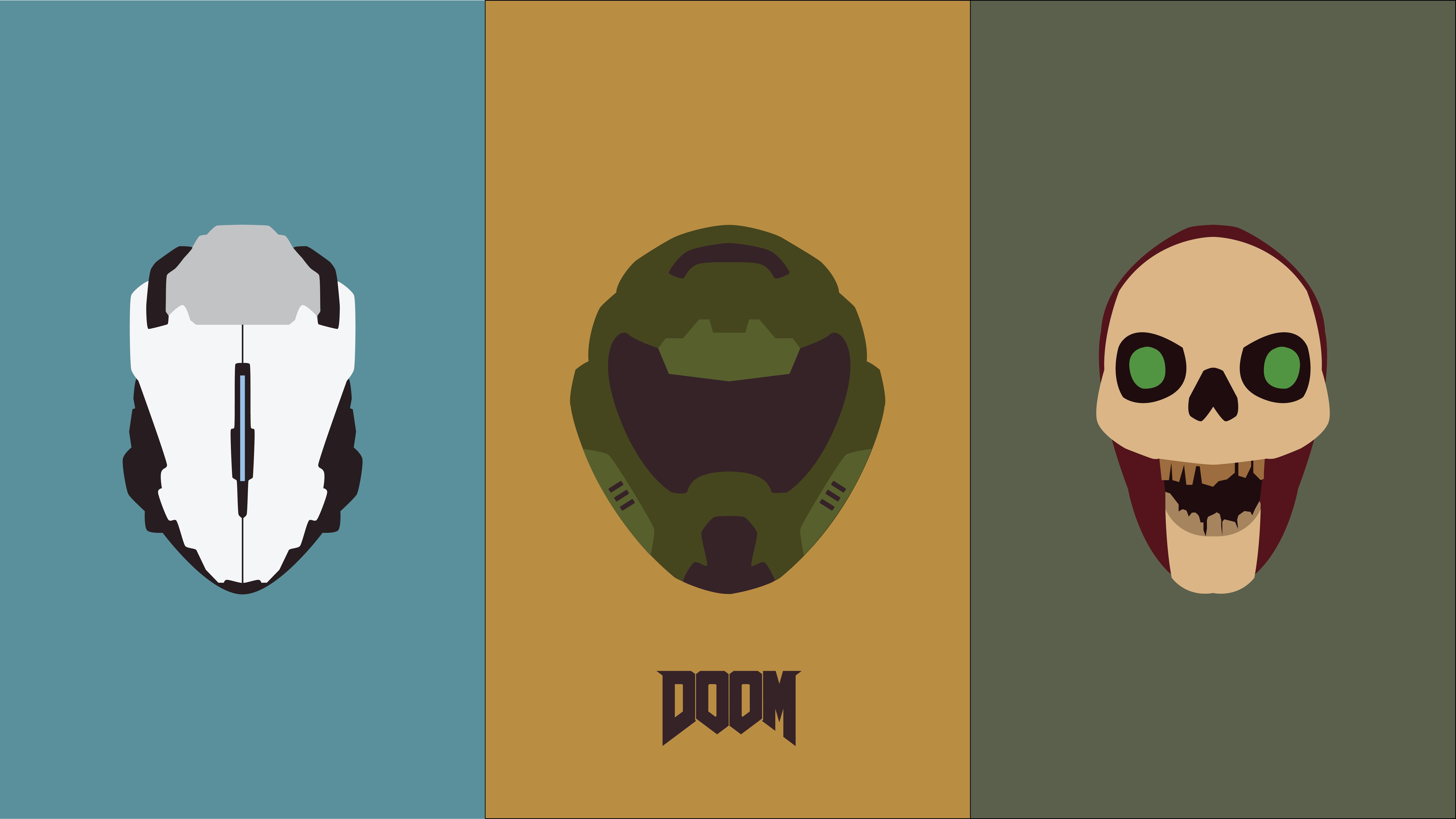 I made a minimalist Doom wallpaper Wallpapers Games