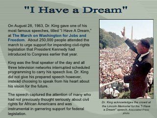 i have a dream speech main points