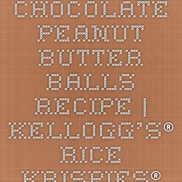 Chocolate Peanut Butter Balls #peanutbutterballswithricekrispies