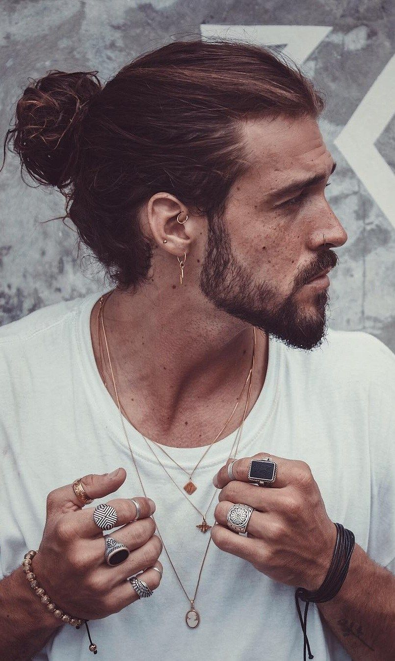 High Ponytail Hairstyle For Men In 2019 Mens Ponytail Hairstyles Man Ponytail Ponytail Hairstyles