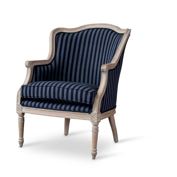 Magnificent Baxton Studio Charlemagne Traditional French Blue Stripe Pabps2019 Chair Design Images Pabps2019Com