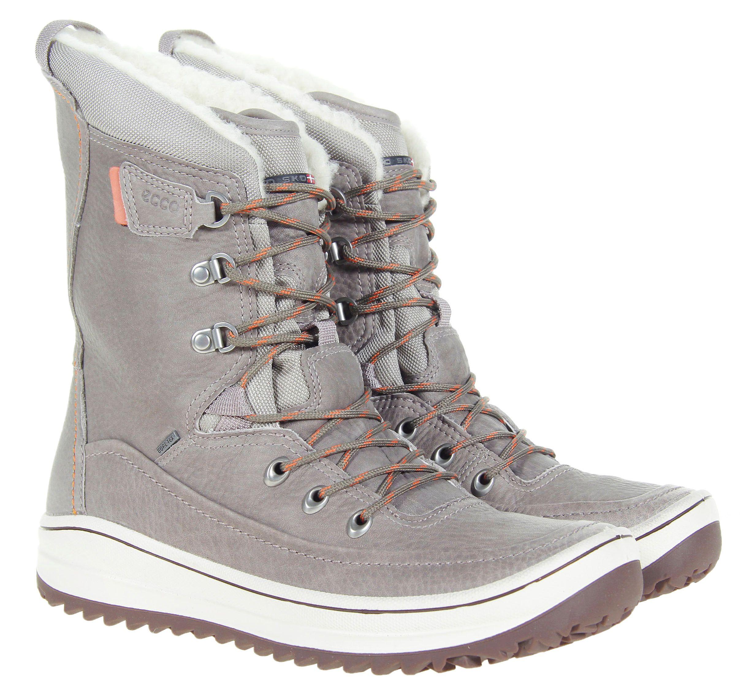 Jasne Sniegowce Ecco Trace Moon Rock Gore Tex Gore Tex Boots Combat Boots
