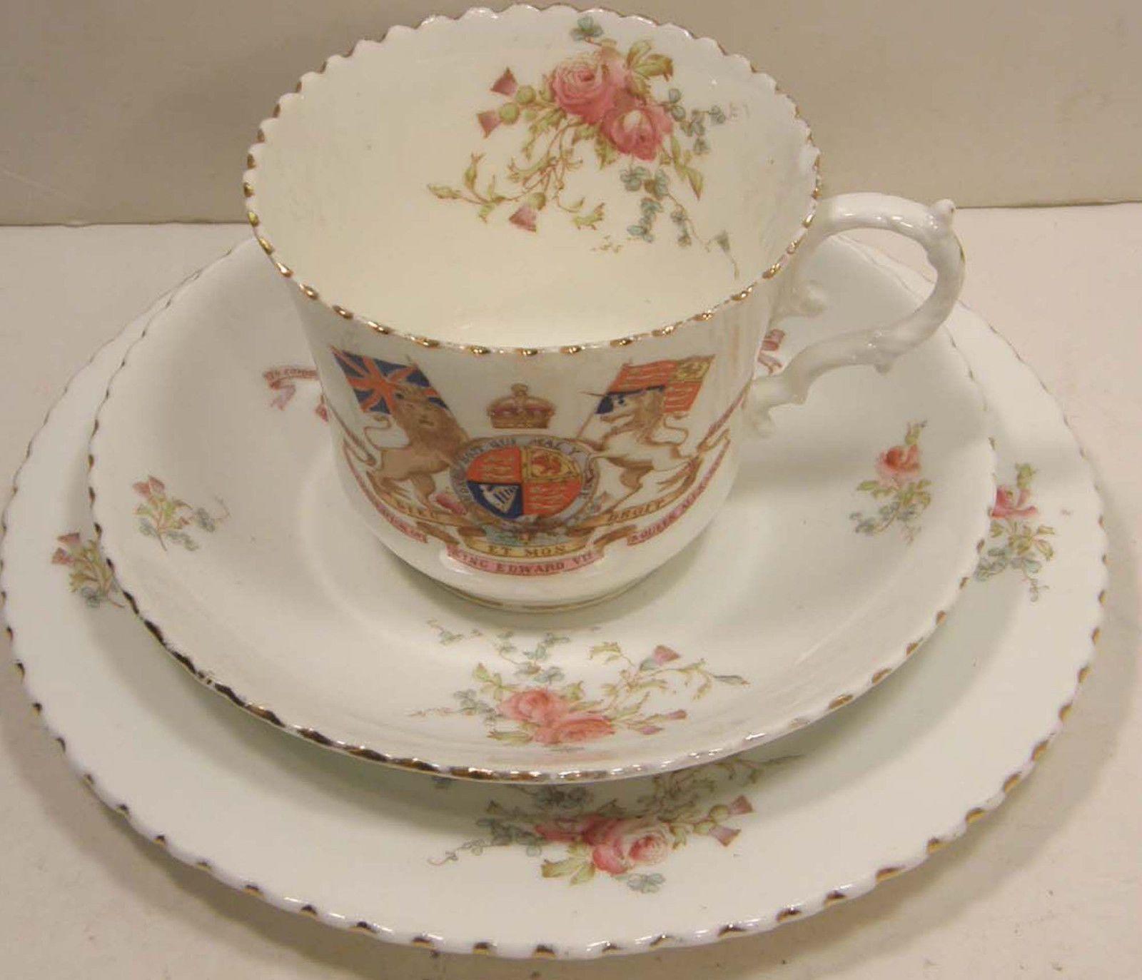 1902 EDWARDIAN AYNSLEY BONE CHINA CUP SAUCER & PLATE