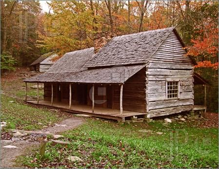 Photo Of An Old Preserved Log Cabin From The Early 1800s