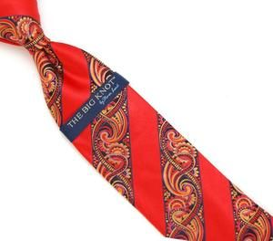 Steven Land Big Knot Red Yellow Neck Tie - 16979