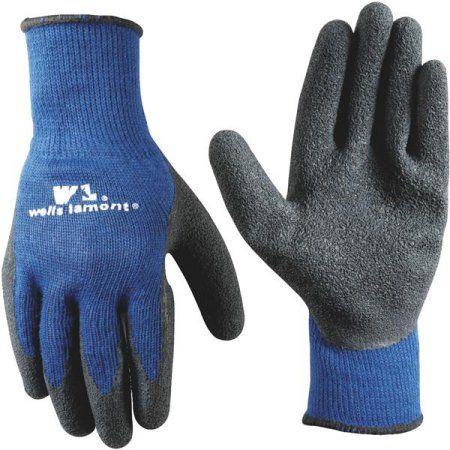 Latex-Coated Glove, Black