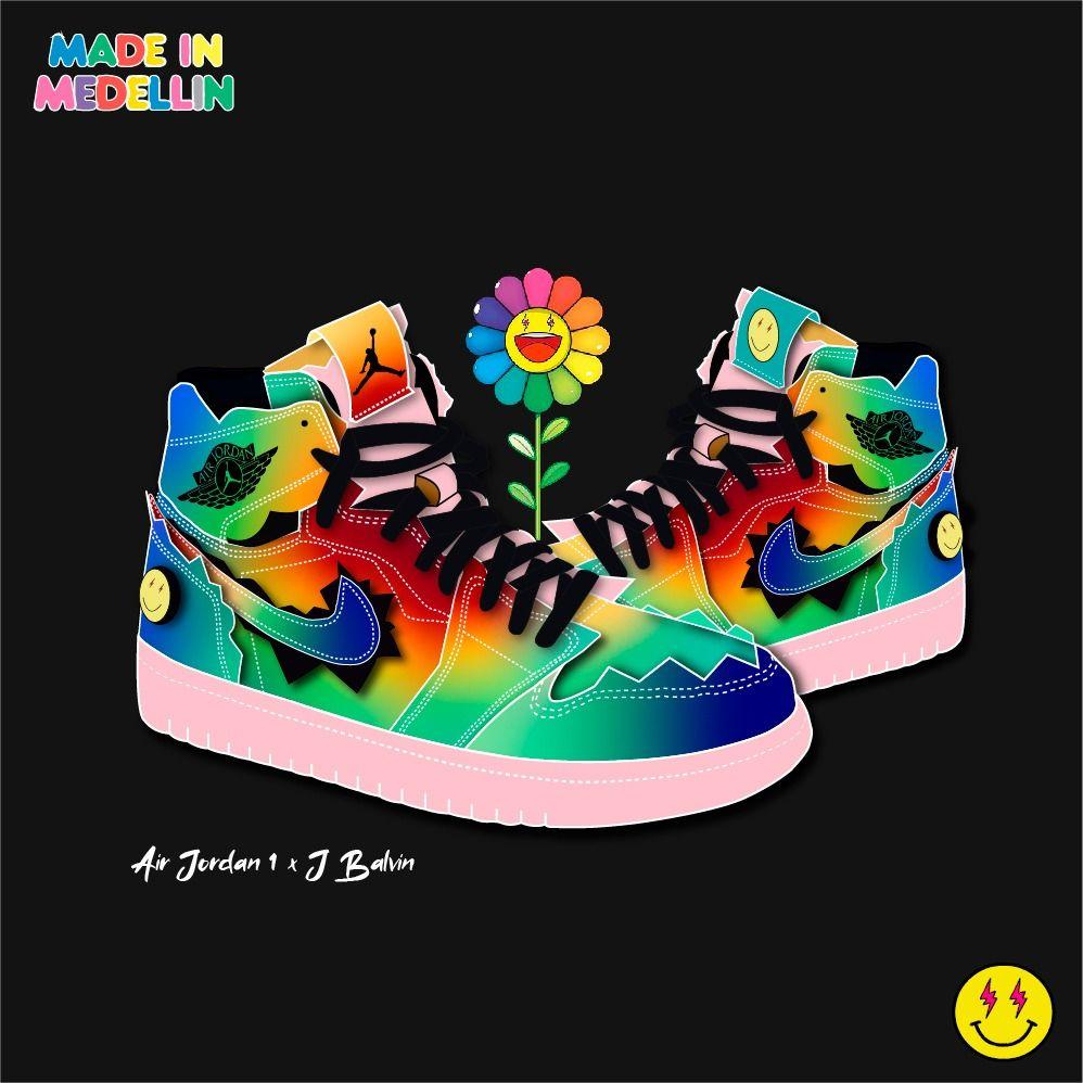 Air Jordan 1 X J Balvin En 2020 Jbalvin Colores Zapatos