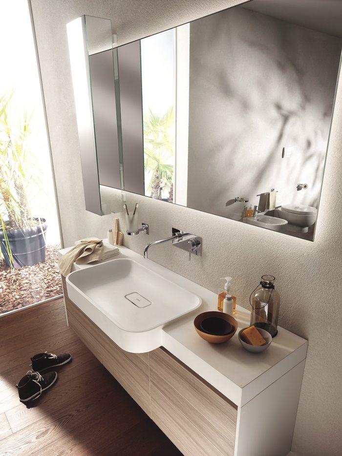 Bagno #Scavolini modello #Rivo : anta laccata lucida colore bianco ...