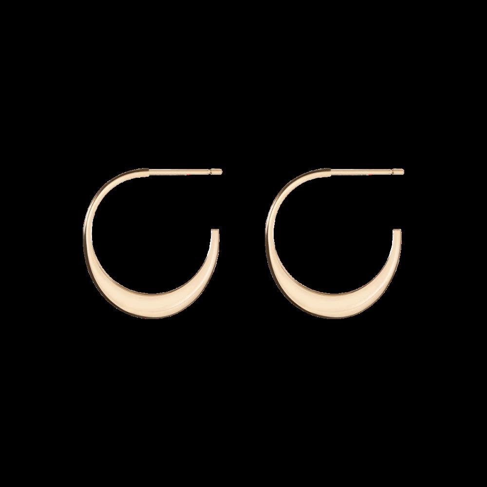 Luna Gold Hoop Earrings In Yellow Rose Or White Gold In 2021 Gold Hoop Earrings Gold Hoops Earrings