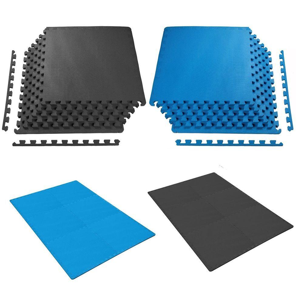 Details About Interlocking Eva Soft Foam Exercise Gym Floor Mats Garage Office Kids Play Home Gym Flooring Gym Floor Mat Floor Mats