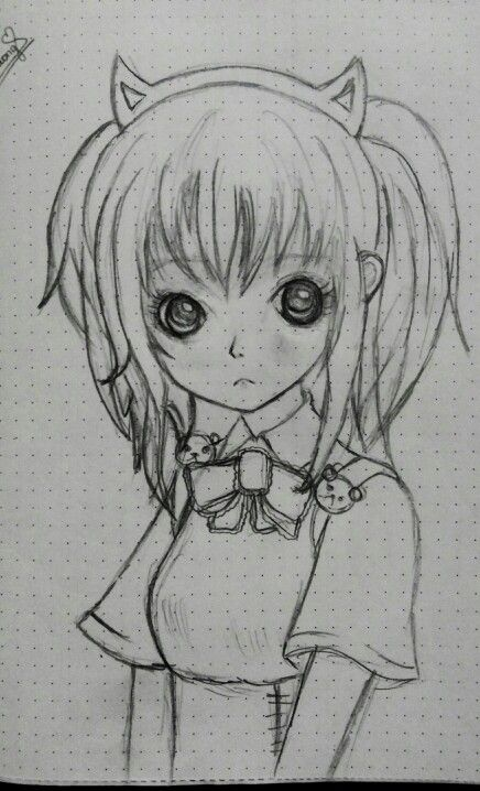 Annie little girl.  She looks sad because I was sad when I drew her :c