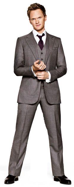 Barney stinson navy suit