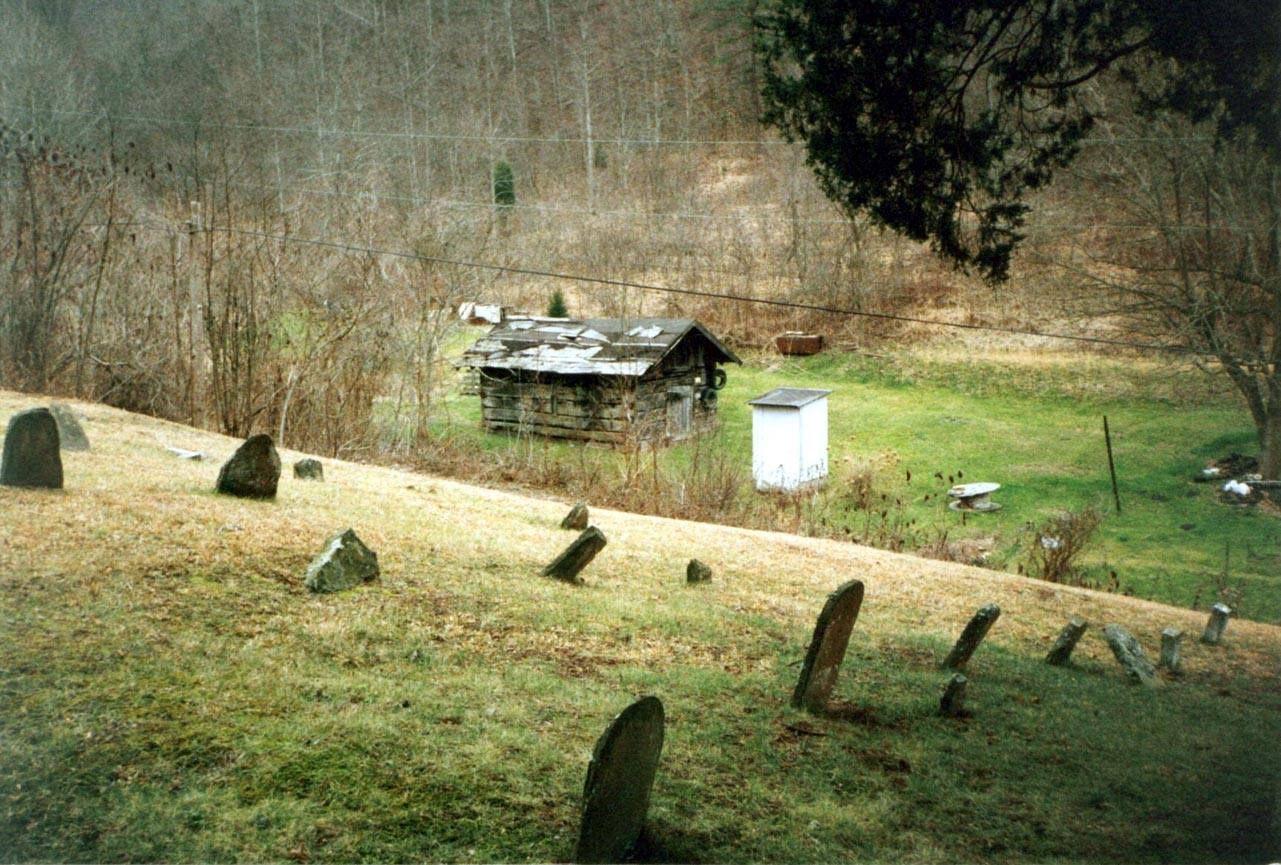 Bob Mullins Cemetery Looking Down Toward Ticky George