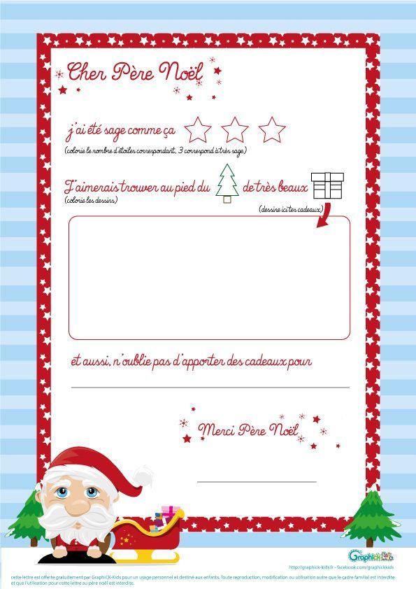 Très lettre-pere-noel … | Pinteres… PW12