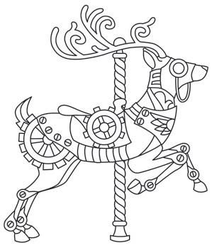 coloring pages of carousel zebra - photo#38