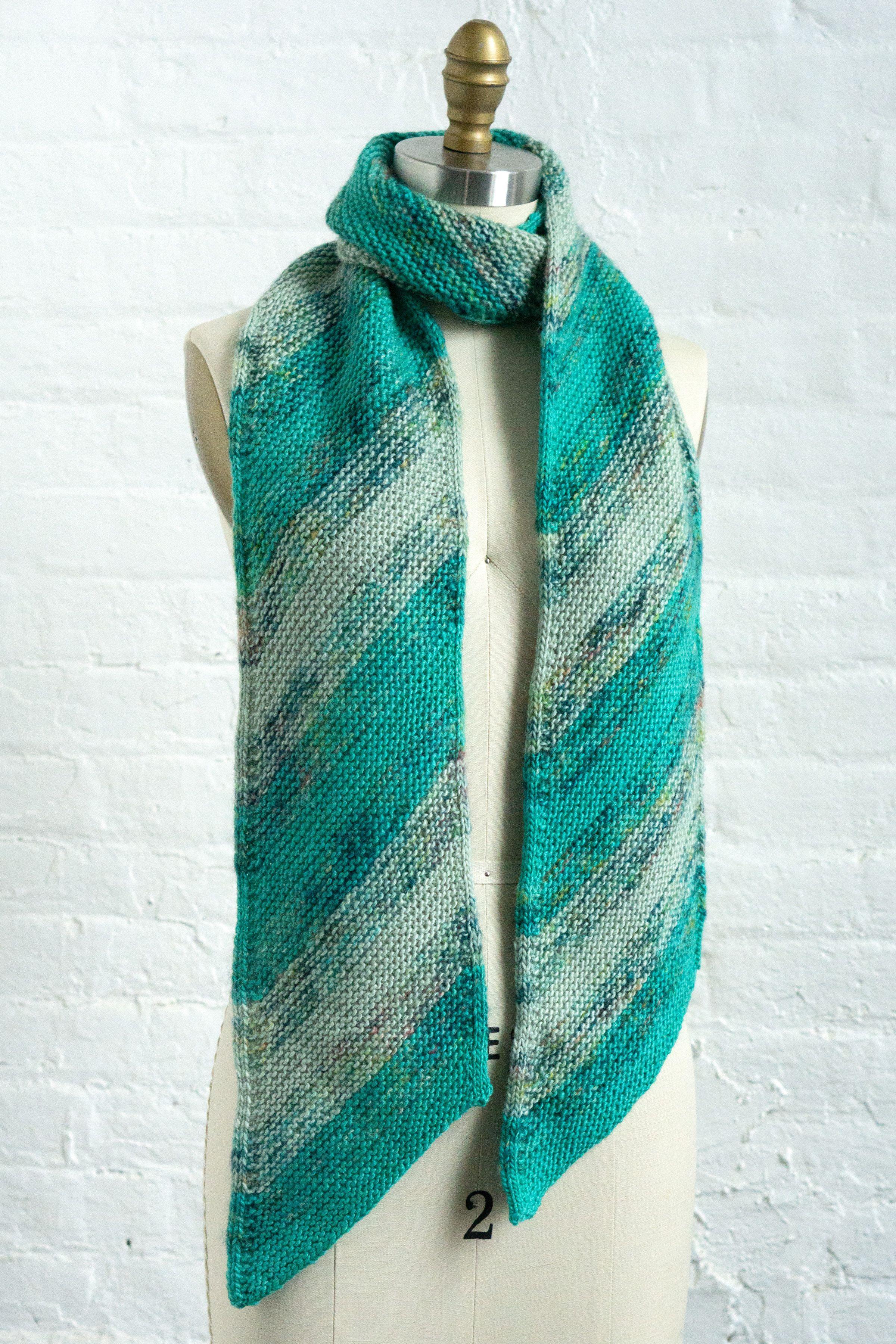 Drifting Scarf (F145) | Mohair yarn, Knitted shawls ...