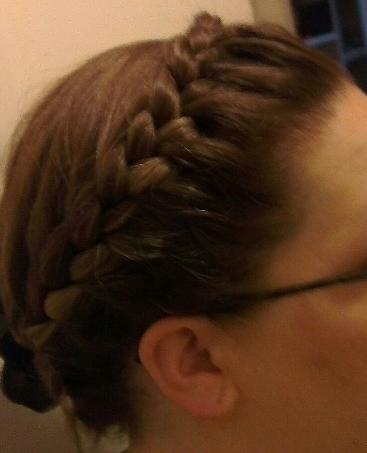 Lace French braid crown