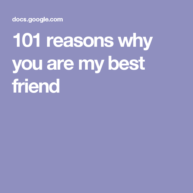 101 Reasons Why You Are My Best Friend Katie Craft Friends Best