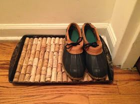 Luxe Austerity Make It Better Wine Cork Boot Tray Diy Tips Misc