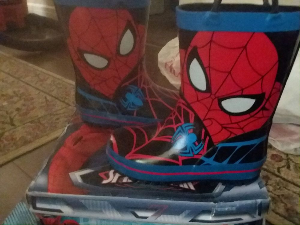 Marvel Ultimate Spiderman Rain Boots Boxed Toddlers//Little Kids