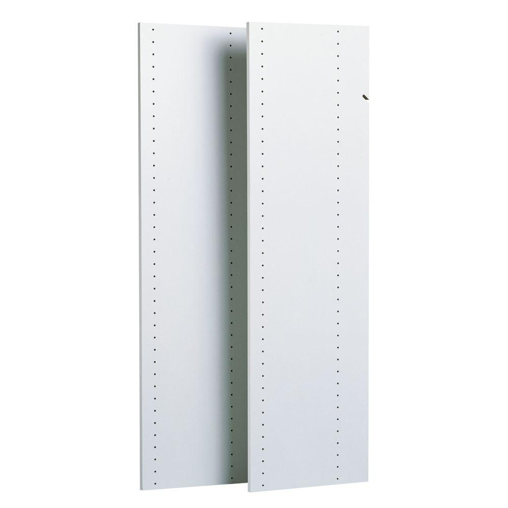 Closet Evolution 14 In X 48 In Classic White Wood Vertical Panels 2 Pack Wood Closet Systems Closet System Easy Track Closet