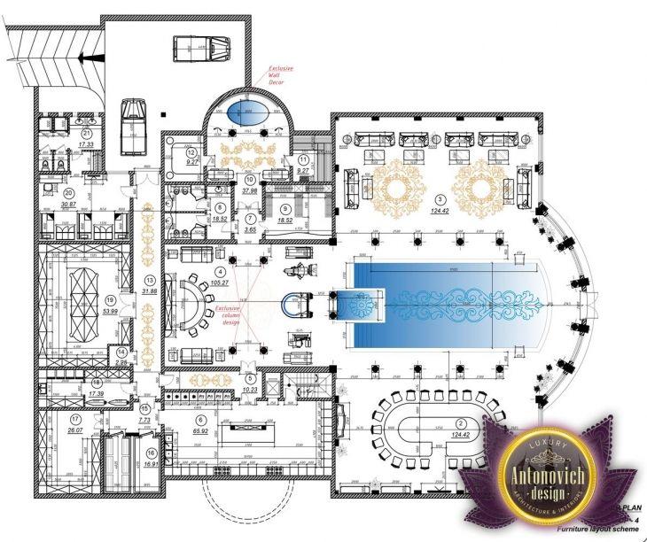 Luxury House Plan Qatar 22 By Antonovich Designs 1st Floor