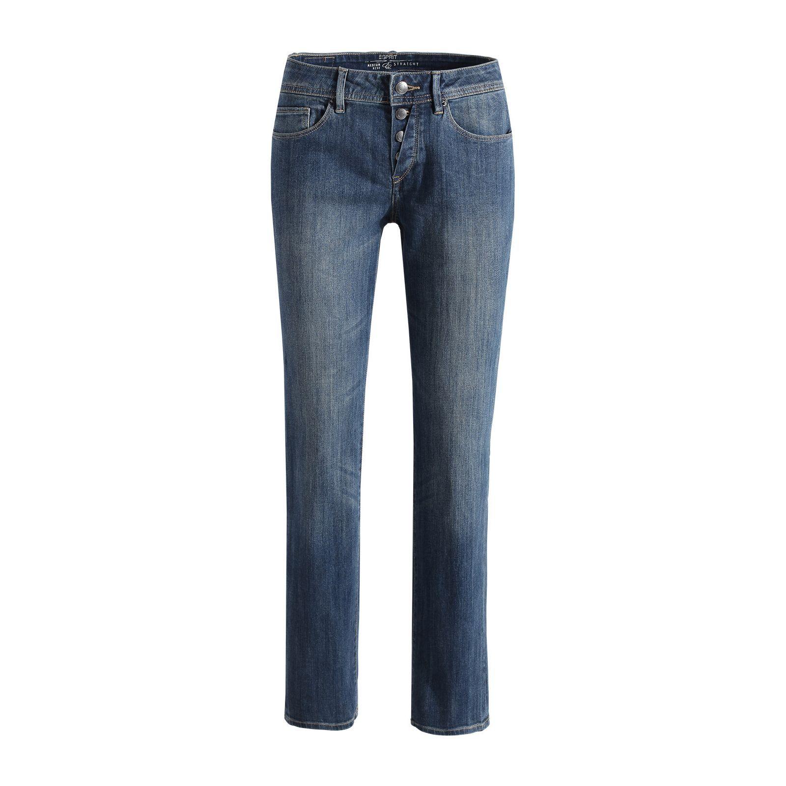 Stretchige Jeans im Used-Look von Esprit