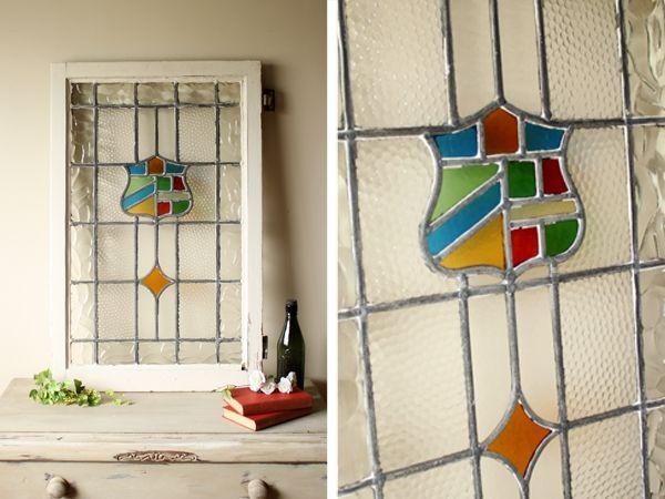 Stained Glass イギリスアンティーク ステンドグラス窓枠 ドア ガラス