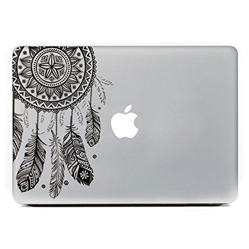 Amazon com icasso dream catcher removable vinyl decal sticker skin for apple macbook pro air mac 13 inch unibody 13 inch laptopblack computers