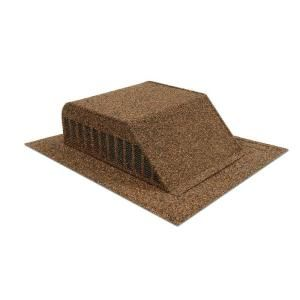 Master Flow Granule Coated Aluminum Slant Back Static Roof Vent In Brown Ssb960ascbr Roof Vents Weathered Wood Home Depot