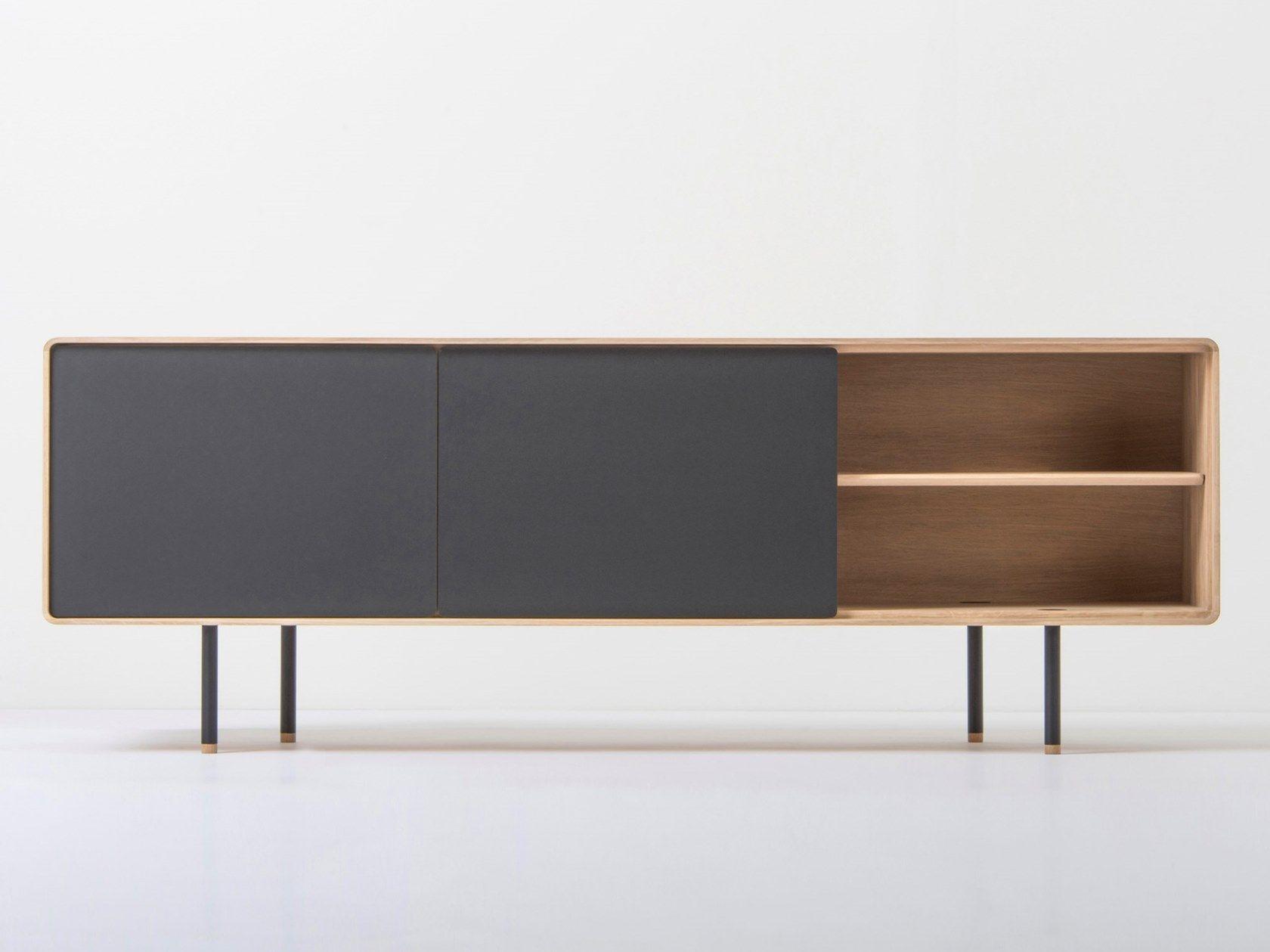 Wooden Tv Cabinet Sideboard Fina Tv Cabinet By Gazzda Tv