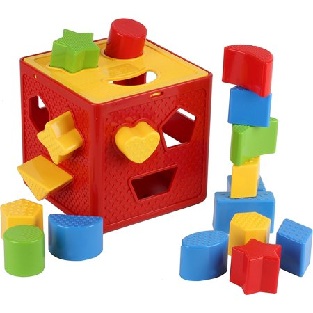 Baby Blocks Shape Sorter Toy Childrens Blocks Includes 18 Shapes Color Recognition Shape Toys With Colorful Sorter Cube Box My First Baby Toys Toys Gift Baby Blocks Baby Toy Blocks Baby Toys