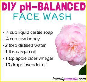 DIY pH Balanced Face Wash for Healthy Skin - beautymunsta - free natural beauty hacks and more!