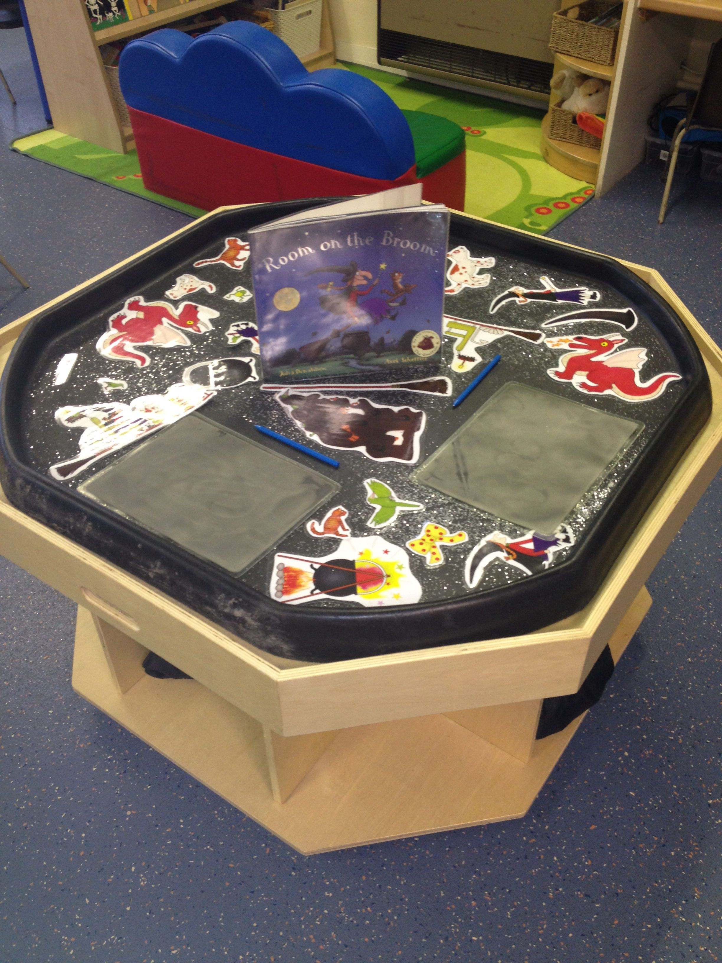 Room on the broom - pictures of story sequencing and writing slates