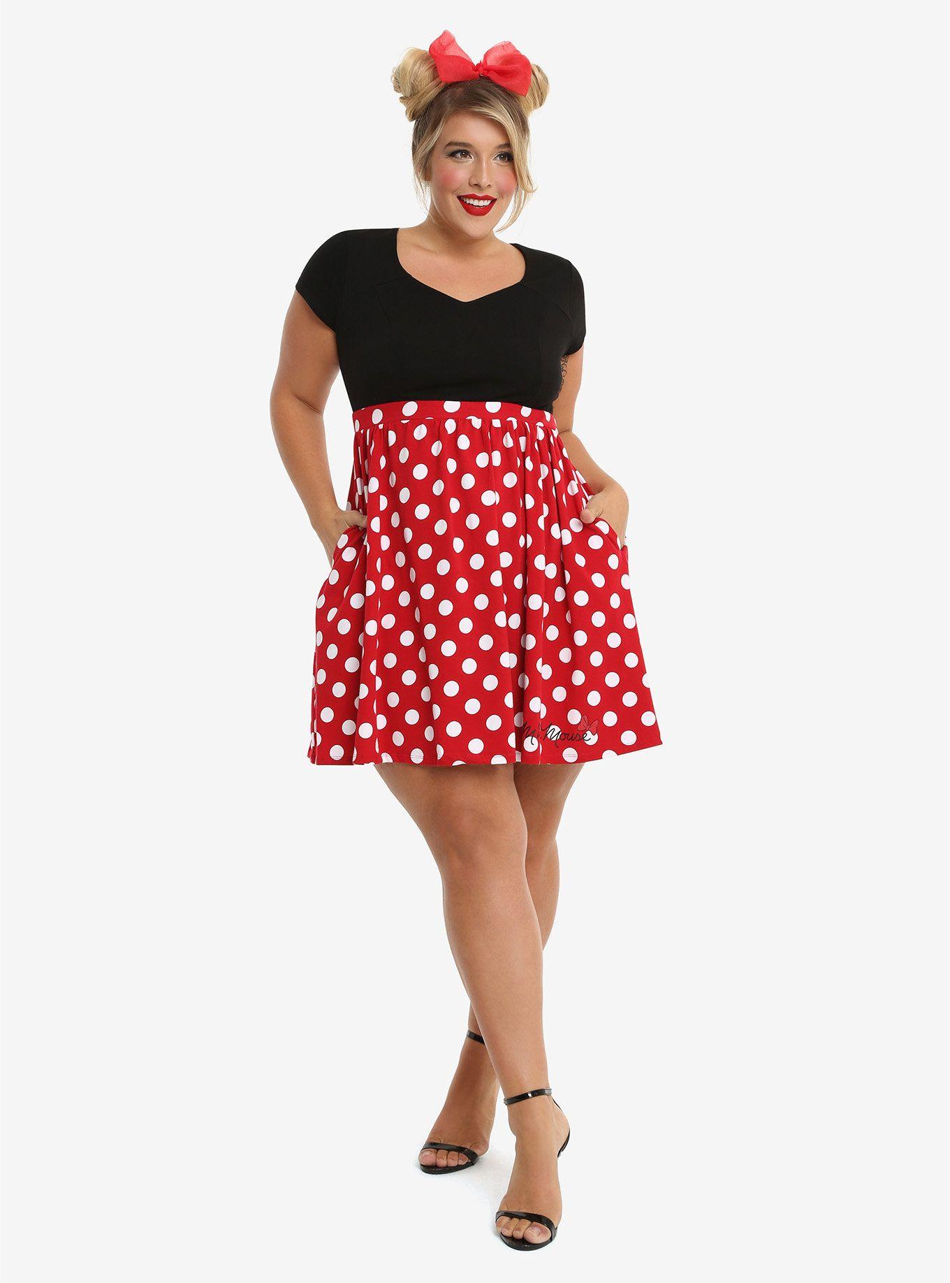 Disney minnie mouse polka dot dress plus size plus size