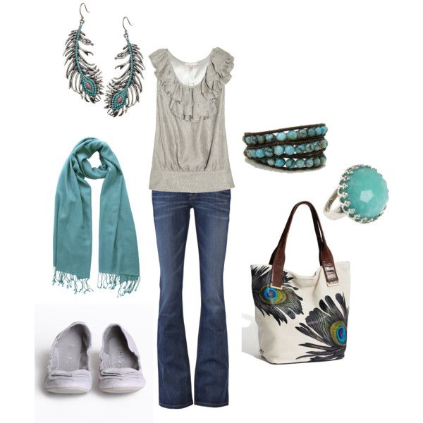 turquoise peacock, created by amirichards on Polyvore