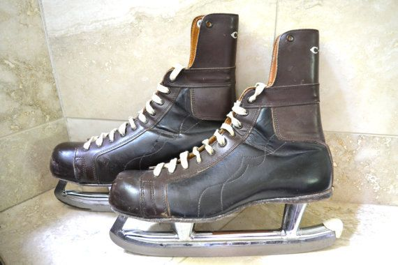 75b0671f0 Vintage Hockey Skates Antique Hockey Equipment