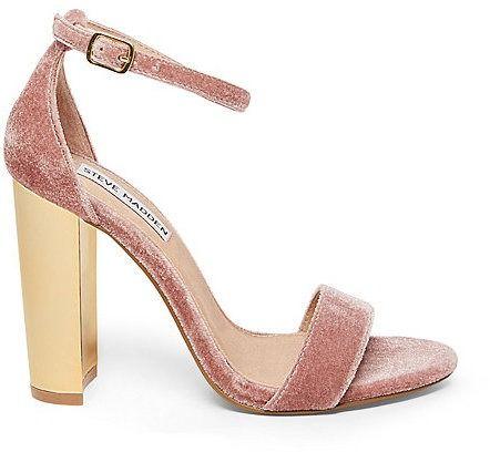 Carrsonv Blush Velvet Sandals by Steve Madden on ShopStyle.