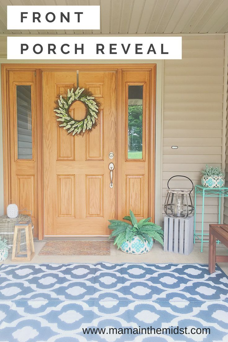 Summer Front Porch Reveal #outdoordecor #outdoordecoronabudget #frontporchideas #frontporch #frontporchdecor #smallfrontporchideas #smallfrontporch #porchdecorating #porchideas #springporchdecor #summerporchdecor #springporchideas #summerporchideas #frontporchmakeover