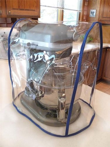 CLEAR MIXER COVER fits KitchenAid Bowl Lift - COBALT Trim - (5-6 Qt on ducane cover, time magazine cover, electric grill cover, club car cover, coleman cover, wire food cover, disney cover, carrier cover, wolf cover, keurig cover, kamado kooker cover, microsoft cover, brinkmann trailmaster cover, 12 x 12 toaster cover, outdoor pool table cover, tupperware cover, weatherproof grill cover, 81 grill cover, char-broil classic grill cover, tempurpedic cover,