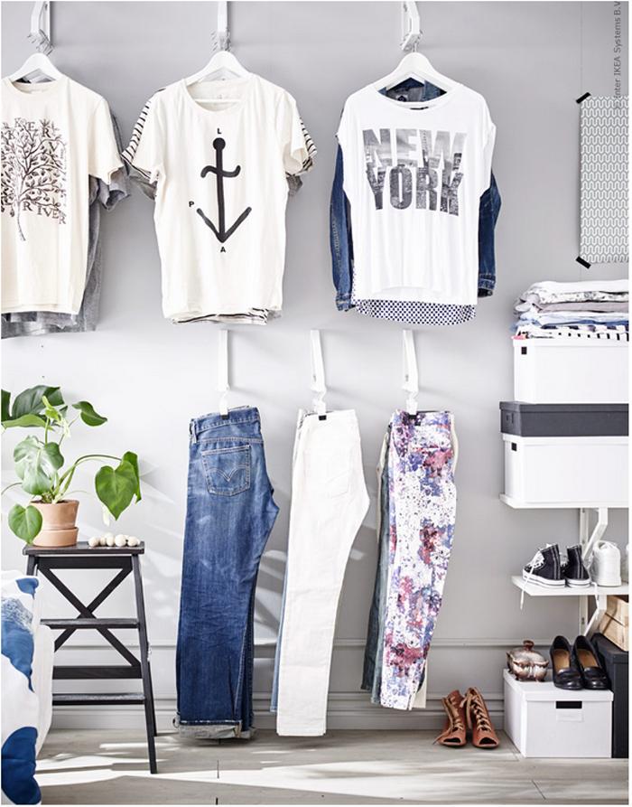 elegant ikea hacks brackets as clothing hooks turn wall into closet with petit dressing ikea. Black Bedroom Furniture Sets. Home Design Ideas