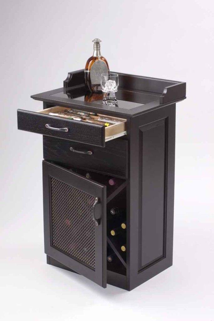 Black Color Corner Liquor Cabinet