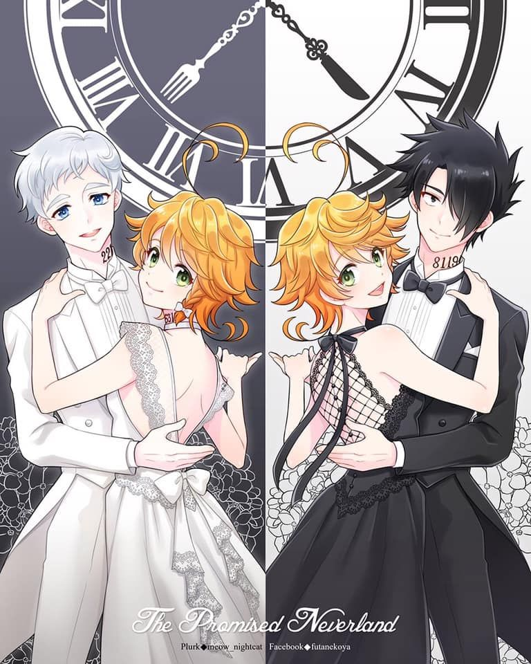 Ray x Emma x Norman The Promised Neverland Neverland