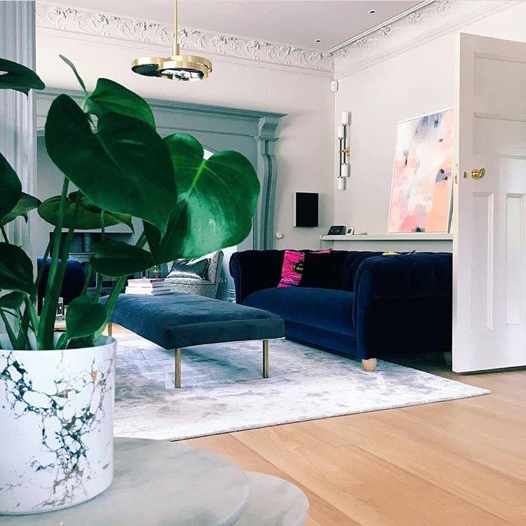 Modern Interior Design For The Living Room~ Pops Of Bold Color Alluring Blue Color Living Room Inspiration