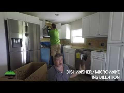Dishwasher Microwave Installation Time Lapse Appliance Installation Installation Samsung Dishwasher