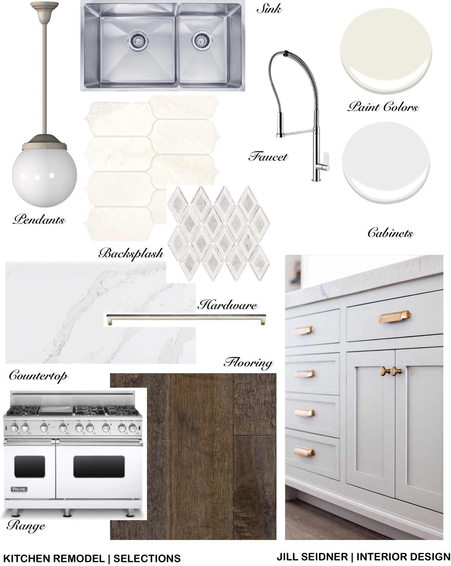 Bel Air, CA Residence Kitchen Remodel Selections Concept Board ...