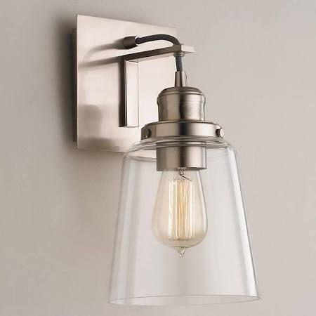 clear glass brushed sconce - Google Search   Home ideas   Pinterest ...