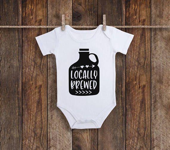 03e818793 ... #funnybabyonesie #babyshowergift #funnybabygift #newborngift  #newbornonesie #sweettcapri Locally Brewed Onesie Funny Baby Onesie Baby  Shower Gift