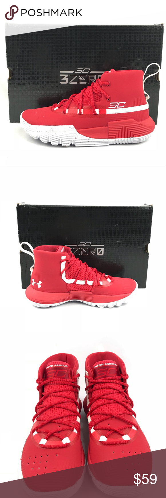 promo code 2a920 70556 Under Armour 3Zero II (GS) Sz. 4 Red Rouge NIB Brand new in ...