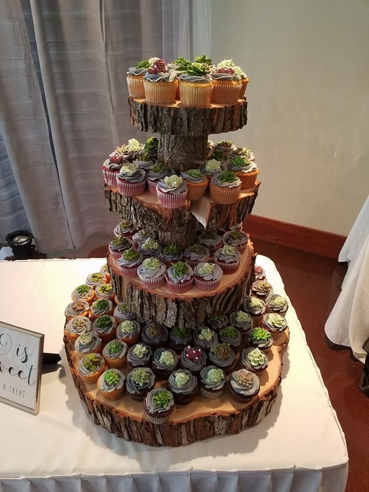 Rustic Cupcake Tower For A Wedding Things For Later Pinterest